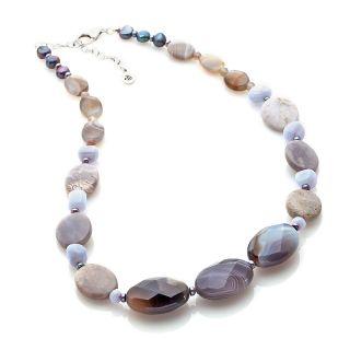 231 357 studio barse multigemstone sterling silver 18 3 4 necklace