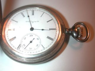 ELGIN * NATIONAL * WATCH * CO * STERLING * POCKET WATCH