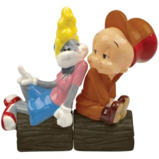 Elmer Fudd In Love Bugs Bunny Salt and Pepper Shakers by Westland