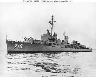 USS EPPERSON DD 719 WESTPAC DEPLOYMENT CRUISE BOOK YEAR LOG 1970