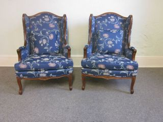 Ethan Allen Pair of Louis XV French Style Living Room Chairs