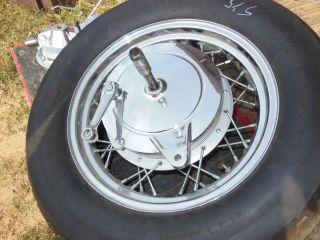 Yamaha Virago 535 Complete Rear Wheel Rim Hub Axle Brake Panel Drum