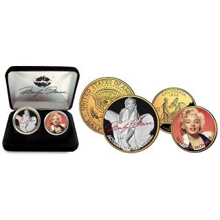 Marilyn Monroe 24K Gold Plated Colorized 2 Coin Set