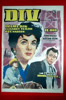 Giant II James Dean Elizabeth Taylor Rock Hudson 1956 RARE EXYU Movie