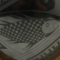 Mata Ortiz Authentic Black on Black Pottery Vase Eduardo Chevo Ortiz