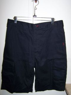 Elwood Mens Cargo Shorts Black Sz 32 $70