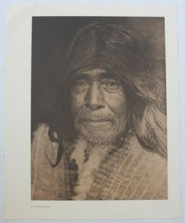 Vintage Print Edward s Curtis A Nootka Man Indian Native American