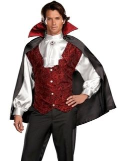 Mens Goth Vampire Dracula Outfit Fancy Dress Halloween Costume