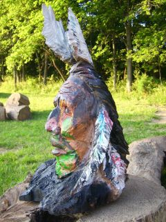 Chainsaw Carving Indian Wood Indian Sculpture Hand Carved
