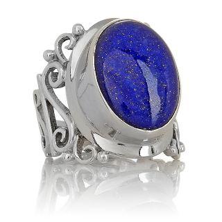 Jewelry Rings Gemstone Himalayan Gems™ Bold Lapis Oval Sterling
