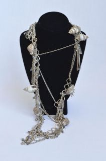 Erickson Beamon Long Gorgeous Statement Necklace Jewelry Chain Crystal