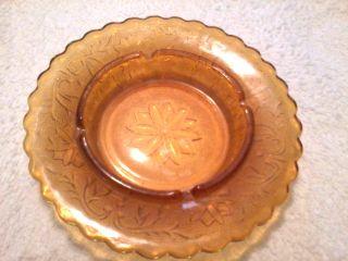 TIARA INDIANA GLASS AMBER SANDWICH LARGE ASHTRAY