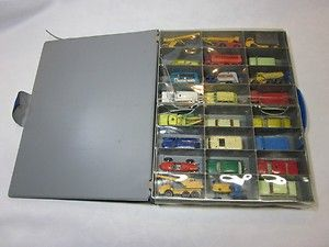 Matchbox Lesney Vintage toy Cars Trucks and Tractors with case Lot of