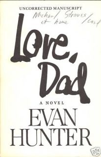Love Dad by Evan Hunter Uncorrected Manuscript Sgnd