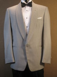 Vintage Miami Vice Gray Twill Tuxedo Jacket 4pc 37S