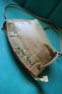 Vtg 80s Emily Ann Hand Painted Southwestern Bag Mini Leather Art