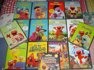 HUGE (15) DVD LOT~SESAME STREET/ELMOS WORLD~TODDLER/ LITTLE KIDS DVD
