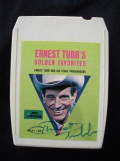 ERNEST TUBB SIGNED AUTOGRAPHED 8 TRACK JOHNNY CASH HANK WILLIAMS