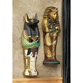 12 Icon of Egypt Set: Egyptian God Anubis & King Tut Sarcophagus Wall