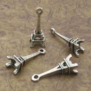 120pcs Tibetan Silve Eiffel Tower Charm Pendants X0154