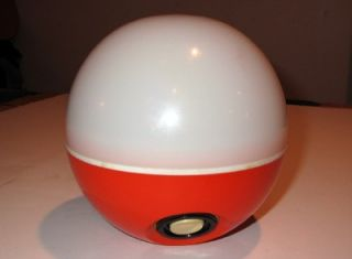 Vintage 1970s Groovy Eveready Battery Powered Lamp All A Round Retro