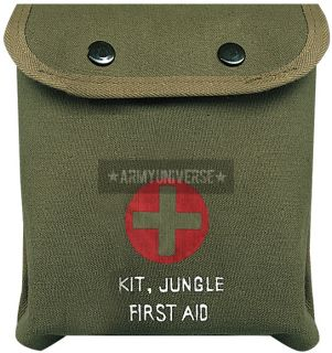 Olive Drab M 1 Jungle Military Emergency First Aid Kit