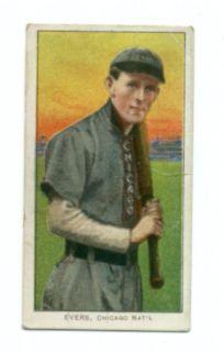 JOHN JOHNNY EVERS Vintage T206 1909 11 Tobacco card GOOD+ Piedmont