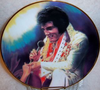 Loving You Elvis Remembered Collectors Plate 2nd in Series by Susie