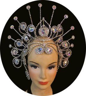Evita H040 Swarovski Showgirl Drag Queen Pageant Headdress