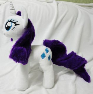 Handmade Minky Custom Plush My Little Pony MLP FIM Rarity G4 17 High