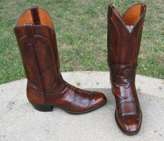 El Dorado Cowboy Western Boots Mens 9 5D