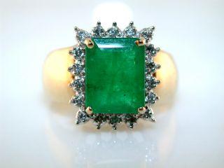 Emerald Cut 1 50ct Emerald Diamond 14kt Yellow Gold Ring