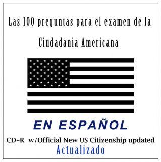 CD con las 100 preguntas para el examen de ciudadania en espanol