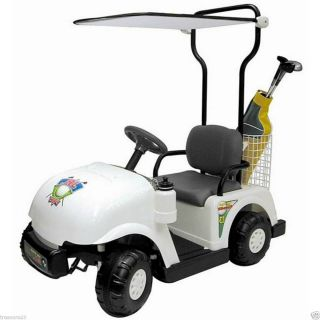 Childs Kids Junior Golf Cart Car 6v Ride On Toy Car Battery Operated