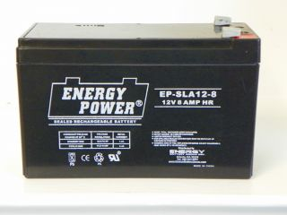 New Energy Power EP SLA12 8 Battery for Wheelchairs and Other Medical