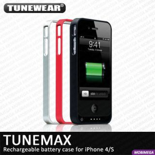 Tunewear Tunemax Energy Jacket 1500mAh Battery Case iPhone 4 4S 3