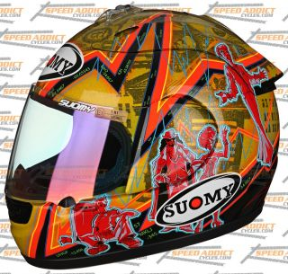 Suomy Spec 1R Extreme Excel Wall Street Full Face Motorcycle Helmet