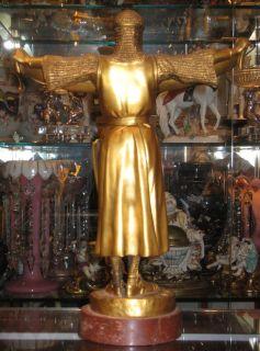 Emmanuel Fremiet Credo Gilt Bronze Figurine Sculpture Cast by