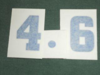 Chevrolet 4 6 283 Engine ID Stickers Decals Set Blue