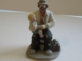 Emmett Kelly Jr clown figurine Flambro The Doctor