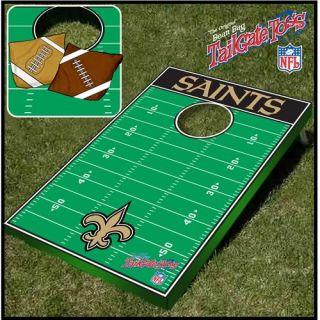 New Orleans Saints NFL Cornhole Bean Bag Tailgate Toss Game
