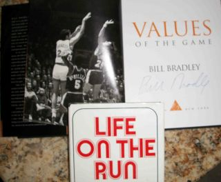 Bill Bradley Values of the Games signed mint Life on the Run