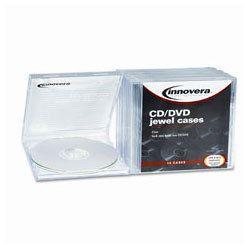 Innovera Clear CD DVD Standard Jewel Cases
