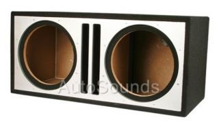 Twin Ported Dual 12 MDF Sub Enclosure Custom Empty Box