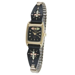 HILLS GOLD WOMENS LADIES INSPIRATIONAL RELIGIOUS CROSS EXPANSION WATCH