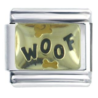 Pugster 9mm Italian Charms Woof Bones Dog Pets Animal J07