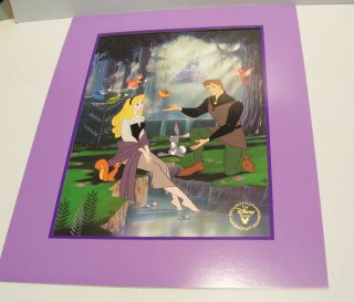 Sleeping Beauty Lithograph with Matt Folder Envelope Gold Seal