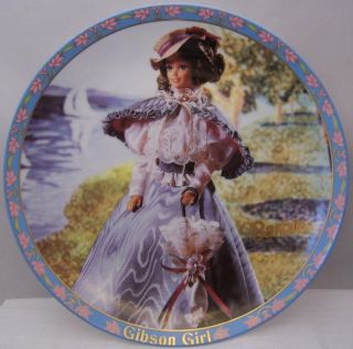 Enesco Barbie Gibson Girl L E Display Plate 1995