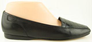 Enzo Angiolini Liberty Black Square Toe Womens Shoes Ballet Flats 8