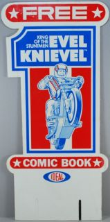 Evel Knievel 1977 Ideal Marvel Comic Book STORE DISPLAY Card